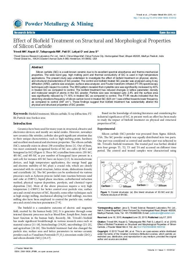 Volume 4 • Issue 1 • 1000132 J Powder Metall Min ISSN: 2168-9806 JPMM, an open access journal Research Article Open Access...