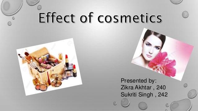 Effect of cosmetics pptx
