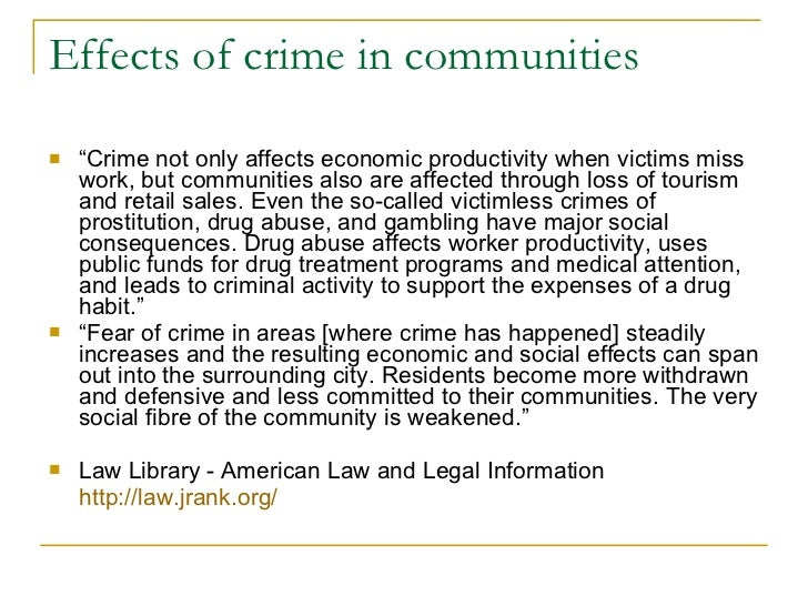 How Does Crime Affect Society?