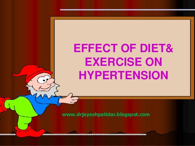 www.drjayeshpatidar.blogspot.comEFFECT OF DIET&EXERCISE ONHYPERTENSION