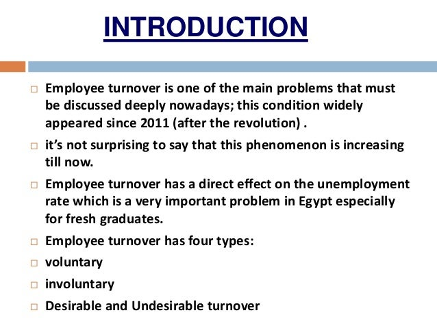 effect of employee turnover in the Organization hr policies and can help in controlling the employee turnover rate  in education sector  study determines the effect of employee turnover.