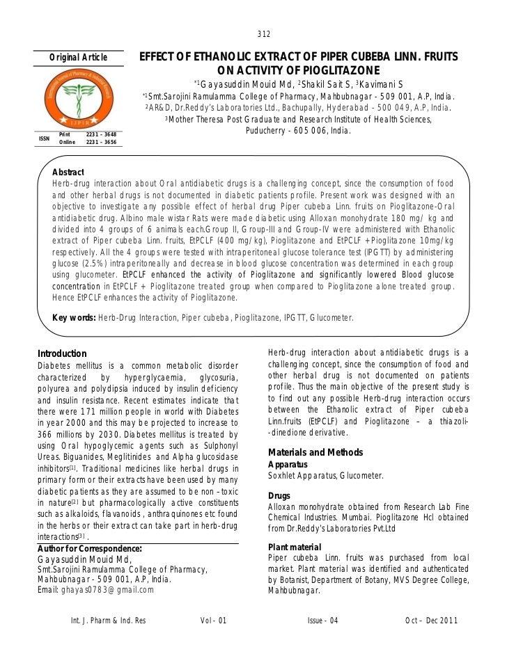 312   Original Article              EFFECT OF ETHANOLIC EXTRACT OF PIPER CUBEBA LINN. FRUITS                              ...