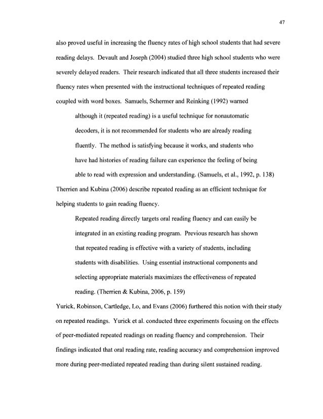 Effect of fluency on reading comprehension – High School Reading Comprehension Worksheets