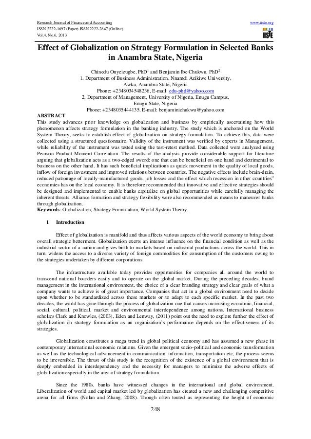 Research Journal of Finance and Accounting www.iiste.orgISSN 2222-1697 (Paper) ISSN 2222-2847 (Online)Vol.4, No.6, 2013248...