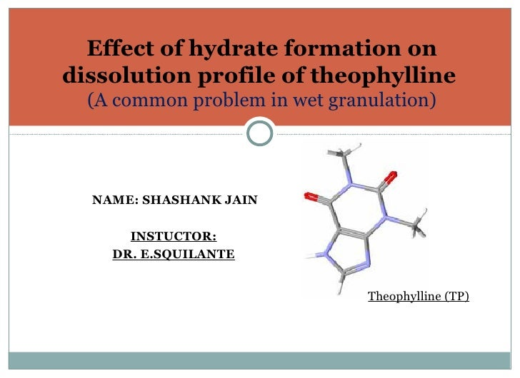<ul><li>NAME: SHASHANK JAIN </li></ul><ul><li>INSTUCTOR: </li></ul><ul><li>DR. E.SQUILANTE </li></ul>Effect of hydrate for...