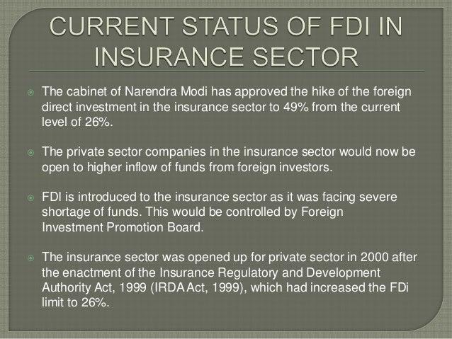Govt allows 49% FDI in insurance under automatic route