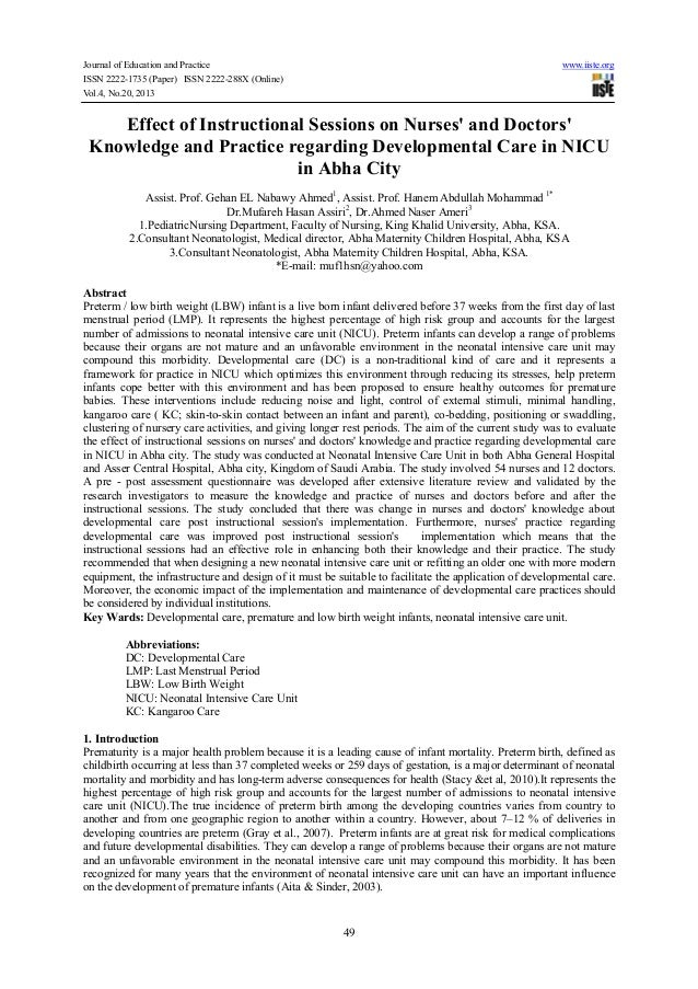 Journal of Education and Practice ISSN 2222-1735 (Paper) ISSN 2222-288X (Online) Vol.4, No.20, 2013  www.iiste.org  Effect...