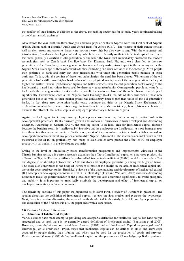 Finance research paper on productivity