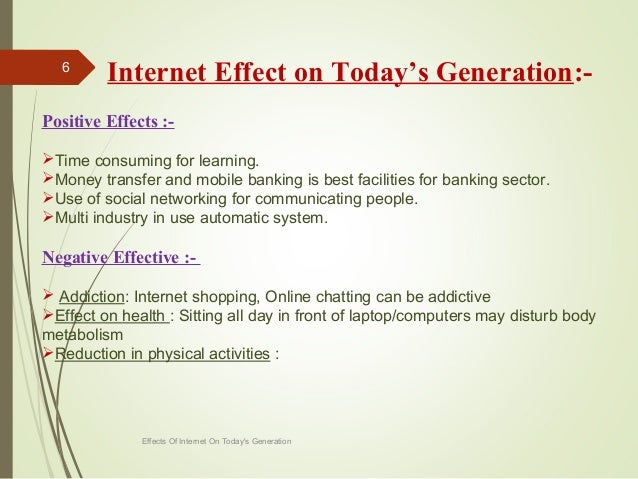 good and bad things about the internet