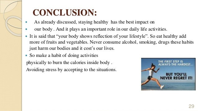 Healthy lifestyle short essay