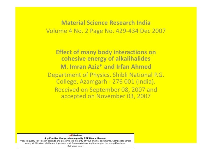 Material Science Research India                          Volume 4 No. 2 Page No. 429-434 Dec 2007                         ...
