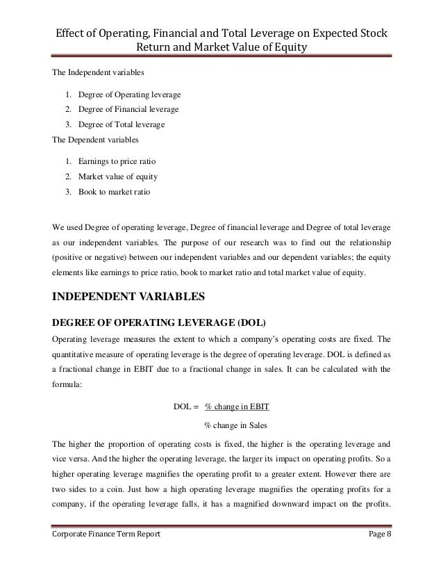 how to find expected value of stock