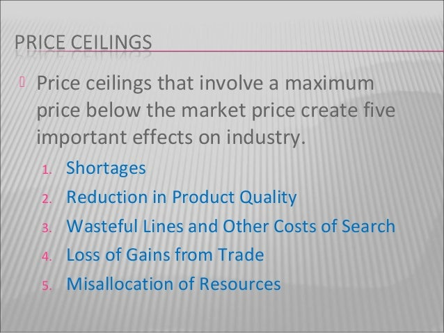 Effect Of Price Floor And Ceiling On Agriculture