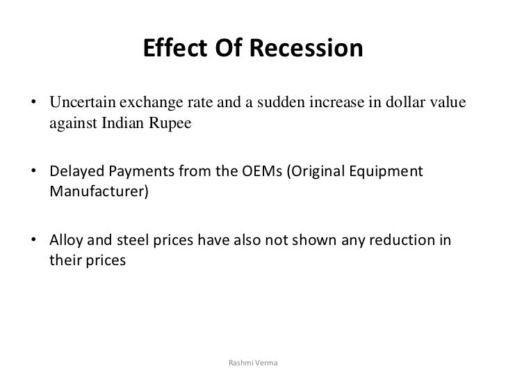 Effect of stagflation on the indian
