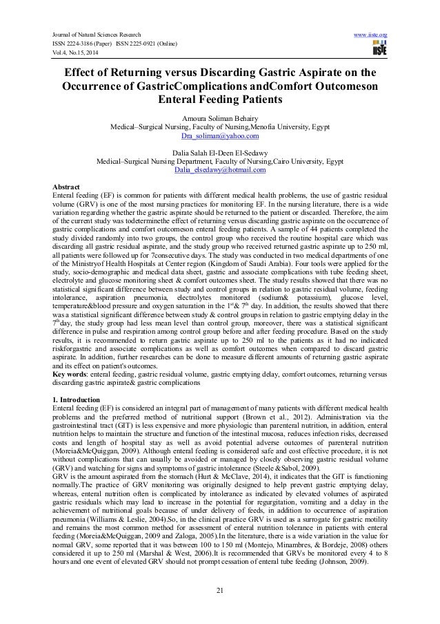 Journal of Natural Sciences Research www.iiste.org ISSN 2224-3186 (Paper) ISSN 2225-0921 (Online) Vol.4, No.15, 2014 21 Ef...
