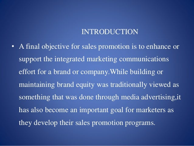 effect of sales promotions on consumer The purpose of this thesis is to show whether premium promotions can impact on  an increase in sales as a result from consumers being attracted to a product.