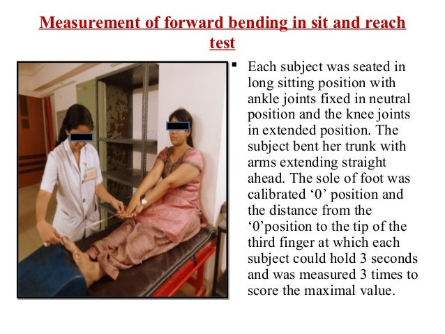 Effect of Sit To Sit And Activity On Forward Bending Test