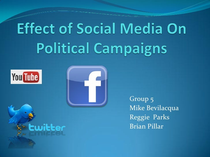 social media impact on political campaigns The obama campaign reached 5 million supporters on 15 different social  meaningful impact that social media  it changed the face of political campaigns.