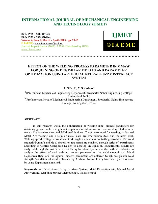 INTERNATIONAL6359(Online)Engineering and 2, March - April ENGINEERING International Journal of Mechanical 6340(Print), ISS...