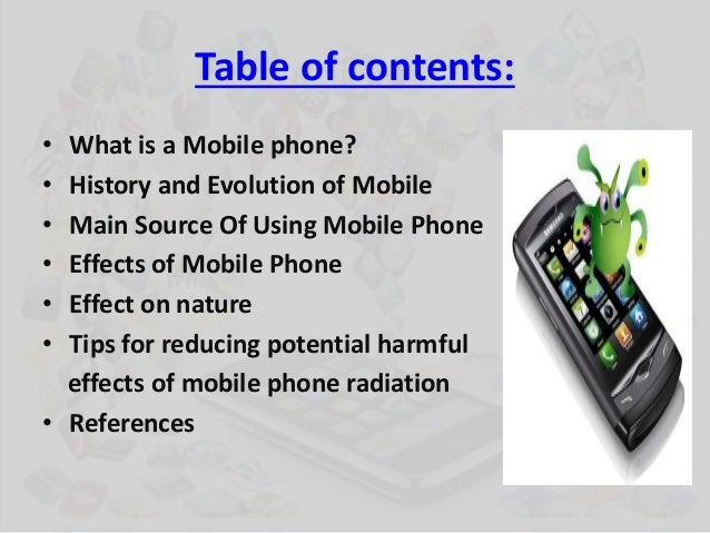 Effect of using mobile phone
