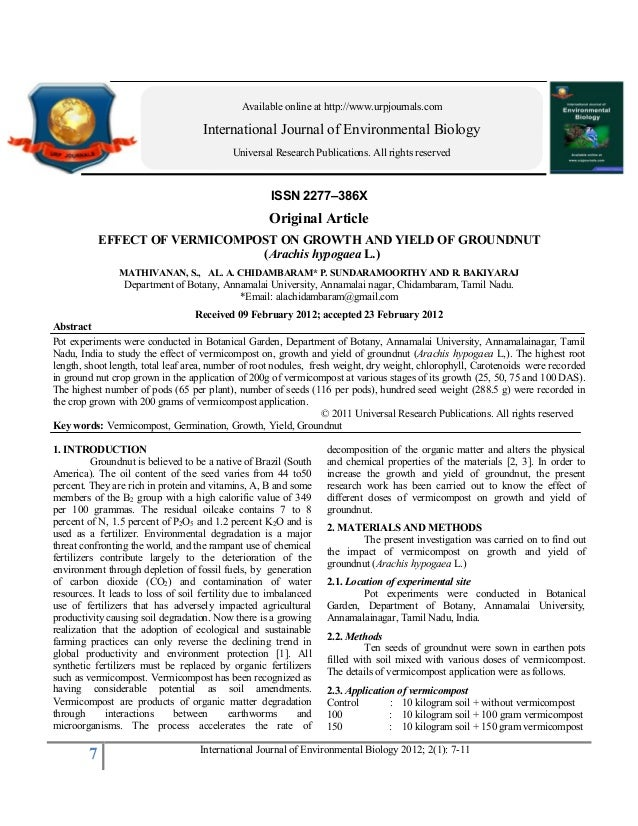 Available online at http://www.urpjournals.com                                    International Journal of Environmental B...