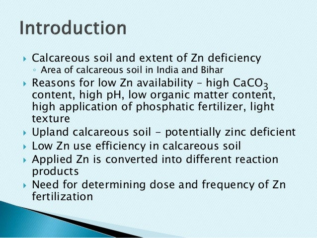 Effect of zinc fertilization on zinc transformation in for Soil zinc deficiency