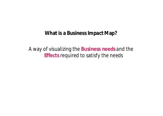 Gemba The structure of the Business Impact Map