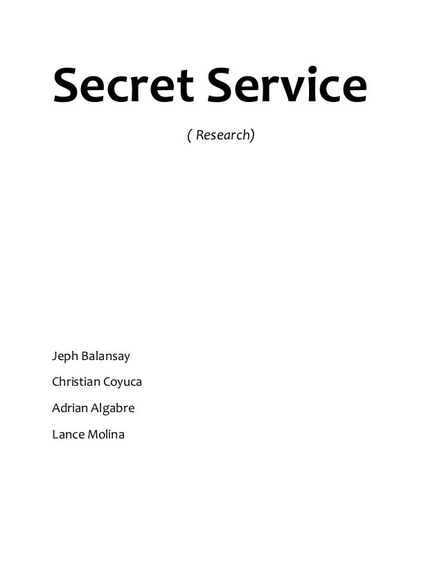 Research paper on secret service