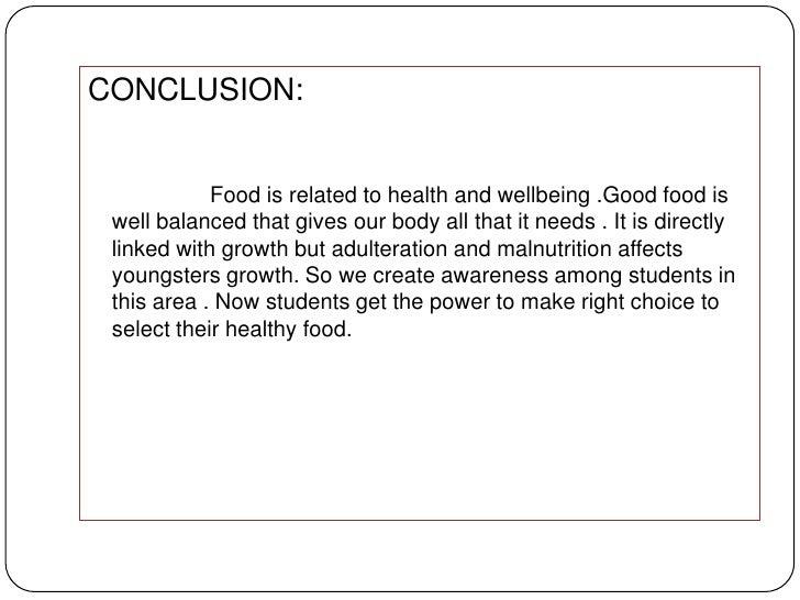 conclusion sur la malnutrition