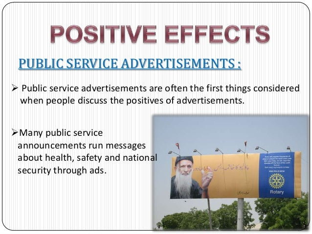 social effects of advertising