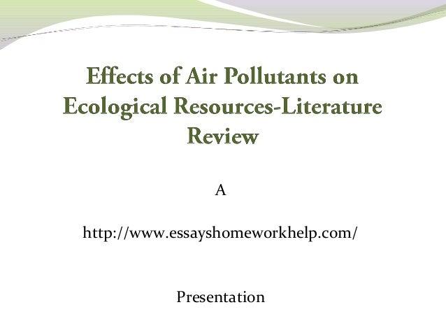 indoor air pollutants a literature review