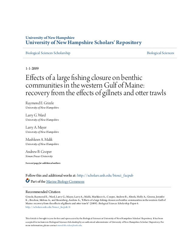 University of New Hampshire University of New Hampshire Scholars' Repository Biological Sciences Scholarship Biological Sc...