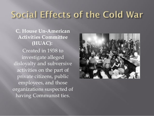 negative effects of the cold war