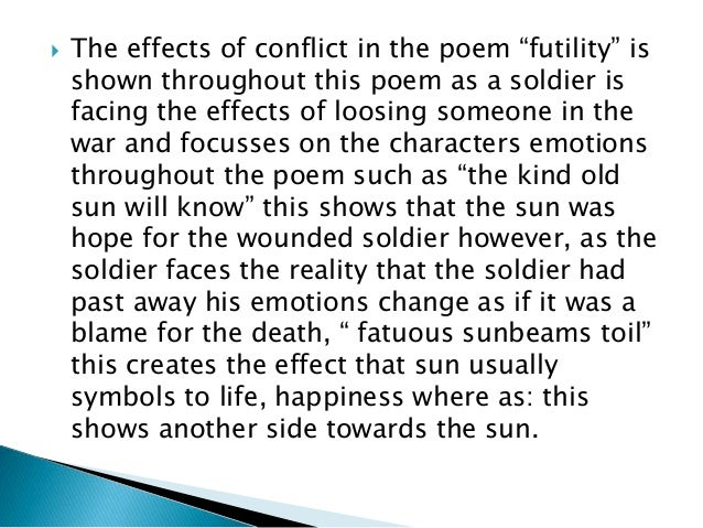 futility wilfred owen analysis pdf