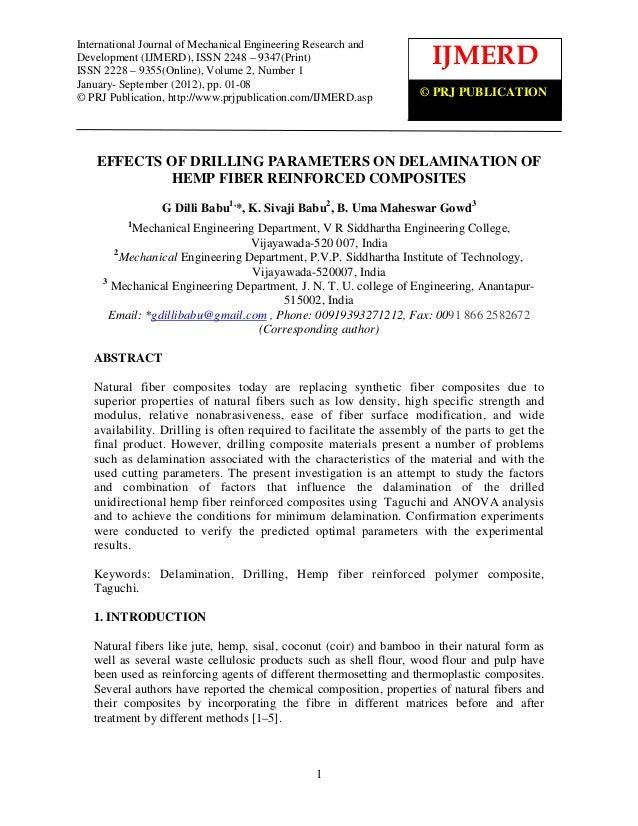 International Journal ofof Mechanical EngineeringResearch and Development (IJMERD), ISSN 2248 –    International Journal M...