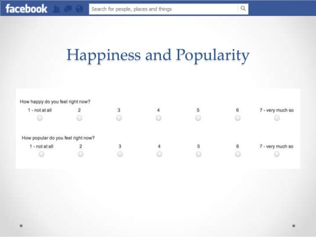 the effects of social comparison on The ubiquity of facebook in modern life compels us to study its effects on well-being we study a unique sample of users and non-users in a security-related org.