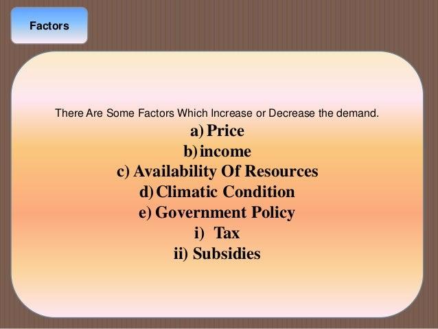 Effects of factors on p e d & p e s