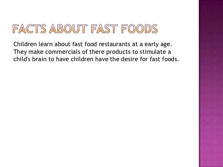 Fast Food Effects On Health Powerpoint