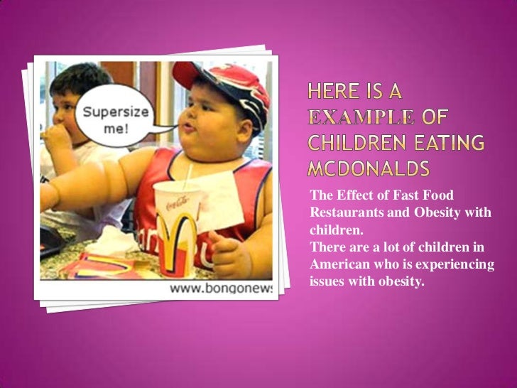 Fast Food Restaurants Effects On Obesity