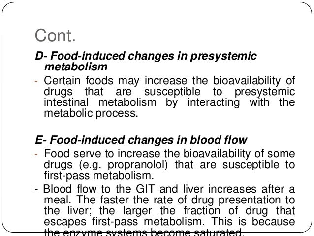 how does components of the diet affect bioavailability?