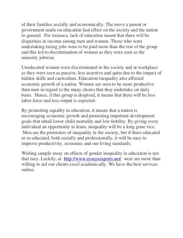 effects gender discrimination essay