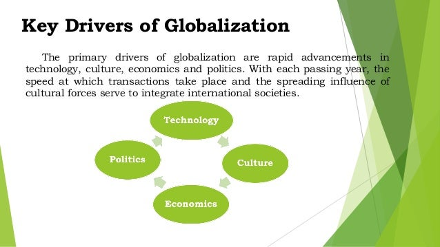 key drivers of globalisation