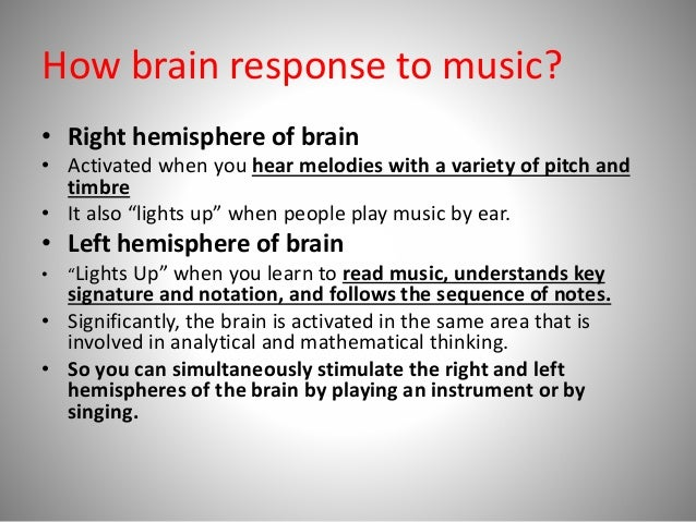 What Is the Effect of Music on the Listener? | Psychology ...