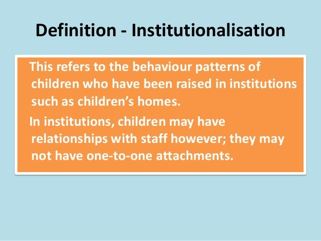 institualization meaning