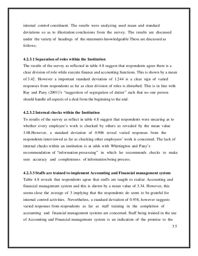 effectiveness of internal auditor in controlling Contrast to the study by hung and han (1998), annuar, et al (2001) only solicited the opinion of the internal auditors to provide information on important factors that contribute towards the effectiveness of an internal audit function among malaysian listed firms.