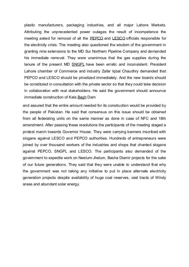 essay on loadshedding in karachi 2013