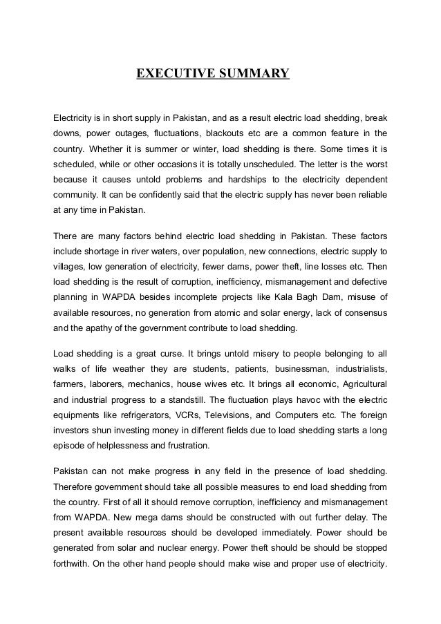 Essay on loadshedding of electricity and cng