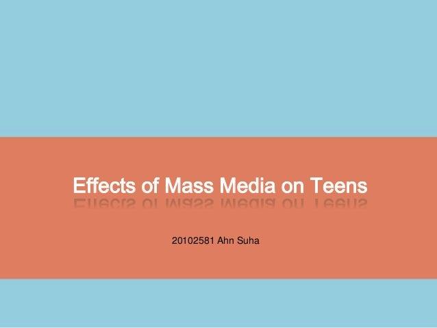 mass media effect on teen sex