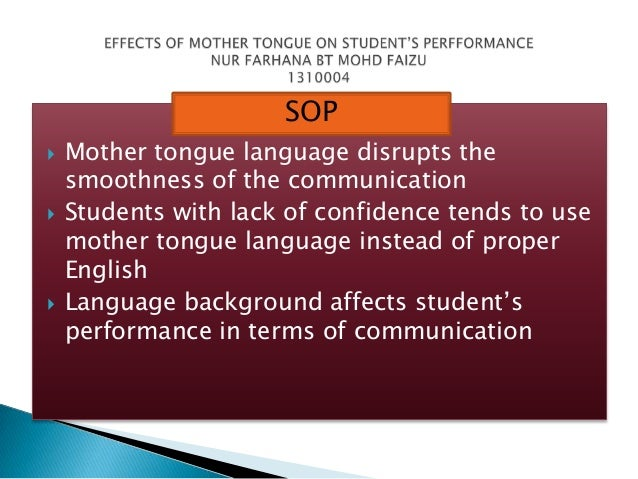 an essay about mother tongue