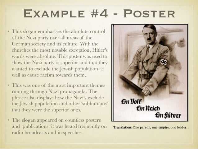 nazi propaganda machine and the effect A secondary school revision resource for gcse history students about germany in transition between 1929 and 1947.